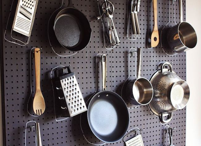 5 Things to Do with… Pegboard. Check out the charging bay, great idea!