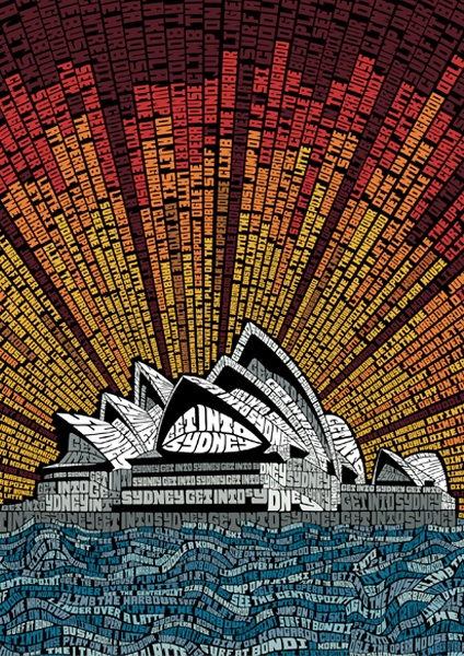 Typography :: Landmarks and Sights in Australia Made Up Entirely of Hand Typography - by Am I Collective + Studio Muti
