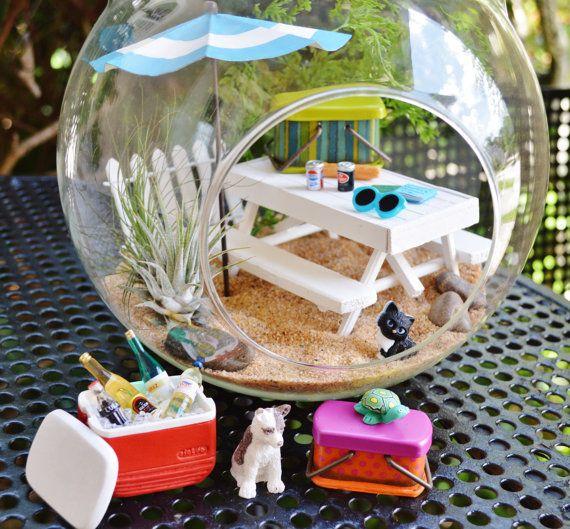 Picnic Terrarium Kit XL Glass Globe Terrarium with Air