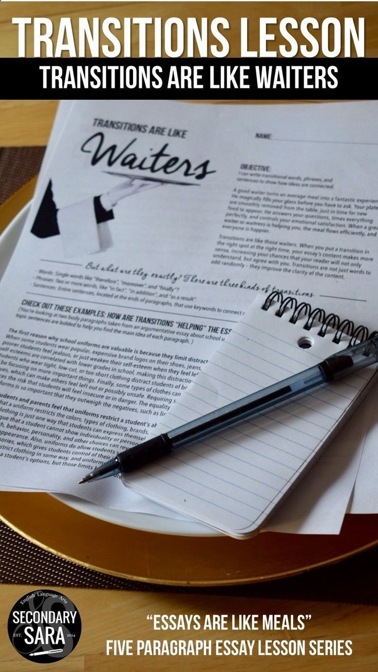 Introduction Narrative Essay Good Transitions Are Like Waiters That Guide The Reader Through The Essay  Get This Introductory Writing Lesson For Middlehigh School English Sylvia Plath Essay also Examples Of Observation Essays Good Transitions Are Like Waiters That Guide The Reader Through The  Berkeley Application Essay