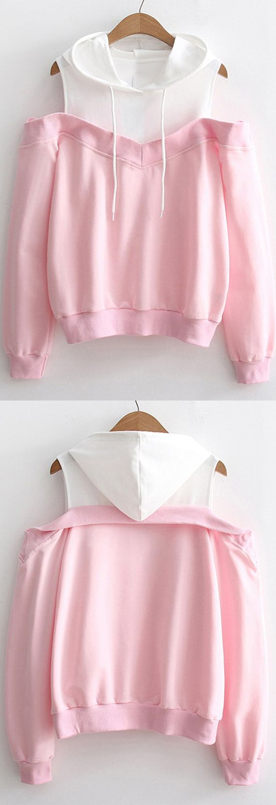 Up to 68% OFF! Two Tone Cold Shoulder Hoodie. Zaful,zaful.com,zaful fashion,tops,womens tops,outerwear,sweatshirts,hoodies,hoodies outfit,hoodies for teens,sweatshirts outfit,long sleeve tops,sweatshirts for teens,winter outfits,fall outfits,tops,sweatshirts for women,women's hoodies,womens sweatshirts,cute sweatshirts,floral hoodie,crop hoodies,oversized sweatshirt, halloween costumes,halloween,halloween outfits,halloween tops,halloween costume ideas. @zaful Extra 10% OFF Code:ZF2017