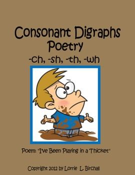 Consonant Digraphs Poetry (ch, sh, th, wh) -- super cute and clever!