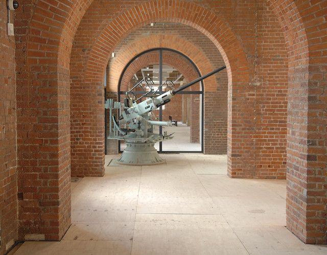 New gallery space with Bofors Gun.