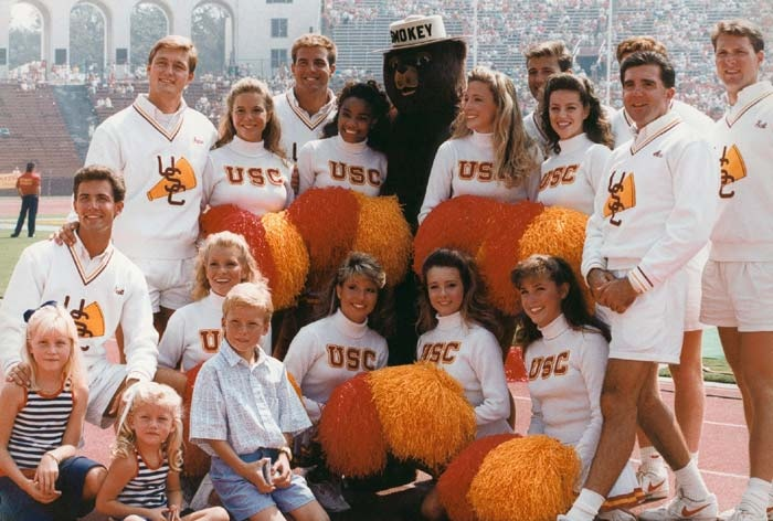 1989 USC Song Girl and Yell Leader Squad with Smoky. | USC ...