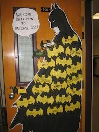 super hero classroom door Batman