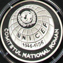 100 lei 1996 UNICEF - reverse
