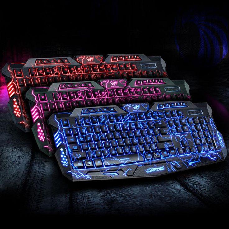 Colde® 3 Colori USB illuminato Retroilluminato a LED Backlight Gaming Keyboard Crack M200L (Nero): Amazon.it: Elettronica