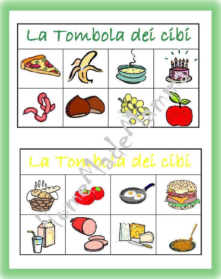 La tombola degli alimenti giochi da tavolo fai da te preschool activities preschool e ideas - Tombola gioco da tavolo ...