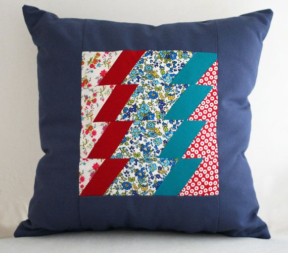 patchwork pillow by KaplumbagaTasarim on Etsy, $51.00