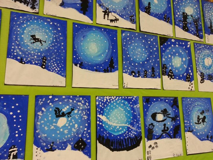 Winter Art - fabulous student art!