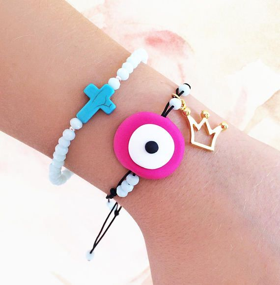 greek jewelry evil eye bracelet pink evil eye greek evil