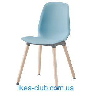 ИКЕА, IKEA, ЛЕЙФ-АРНЕ, 991.278.06, Стул, голубой, Эрнфрид береза