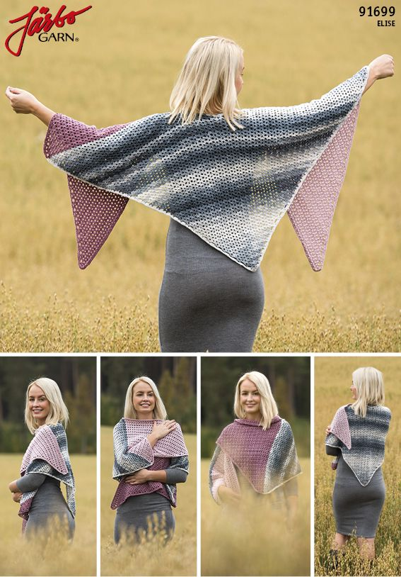Lovely crochet shawl in our Elise.