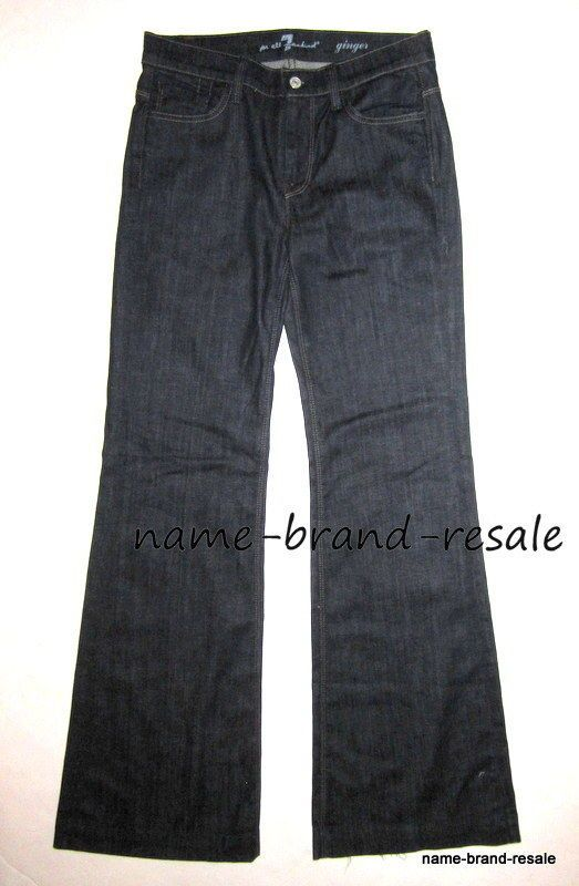 7 FOR ALL MANKIND GINGER Jeans Womens 28 x 34 LONG TALL Trouser Flare Wide Leg #7ForAllMankind #Ginger