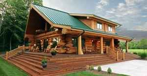 With a Must See Interior this Splendid Log Home is just $56,000 Check out the Floor Plans.  People a ...