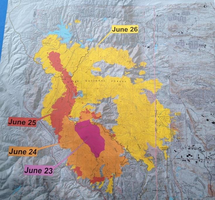 Waldo Canyon Fire expansion map. KKTV.com