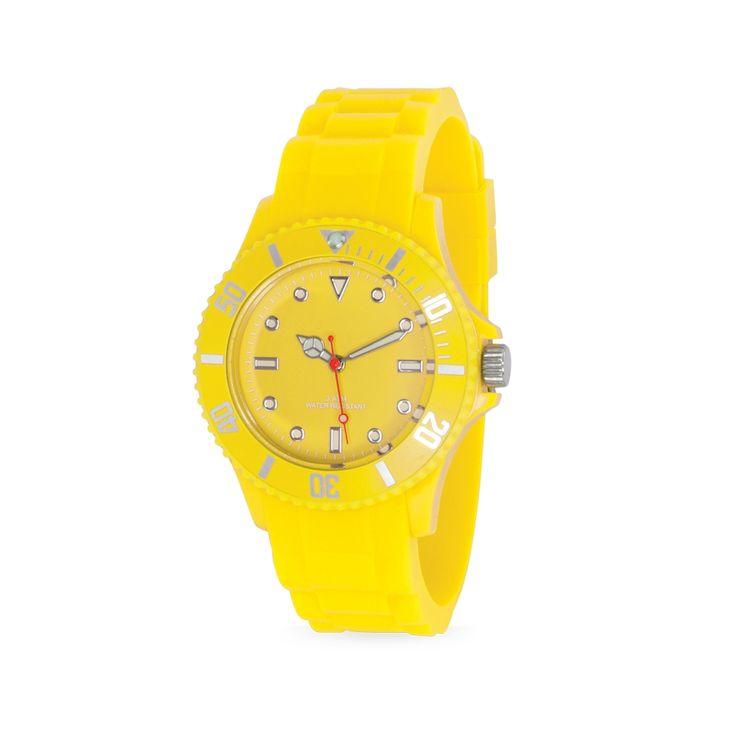En Compranet Reloj de Pulso Silicona Estuche Traslucido Water Resistant -  Amarillo referencia CPN-00300