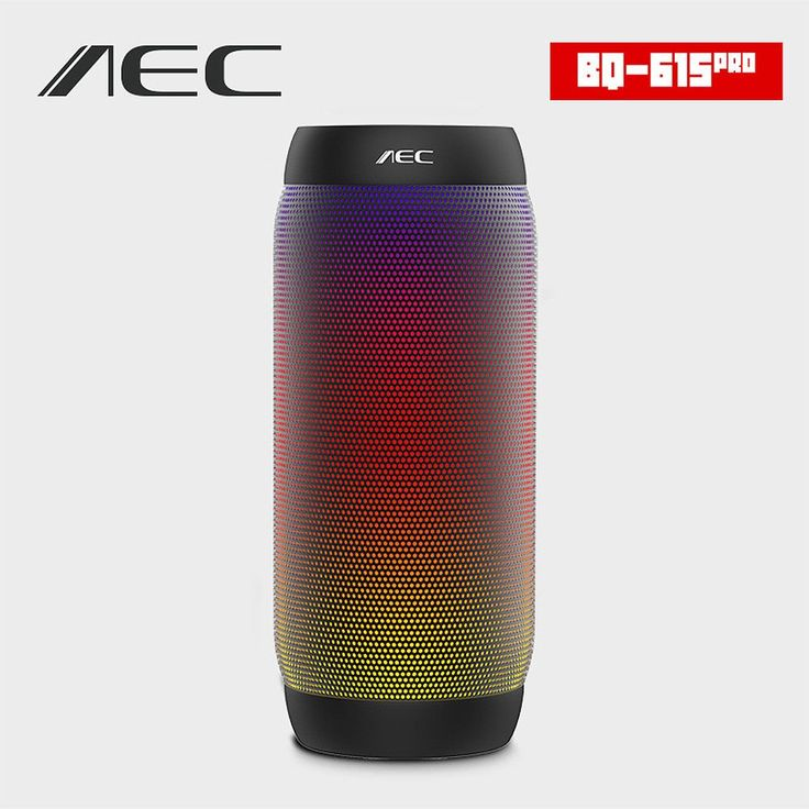 AEC BQ-615 PRO Colorful LED Lights Wireless Bluetooth 3.0 HIFI Stereo Speaker