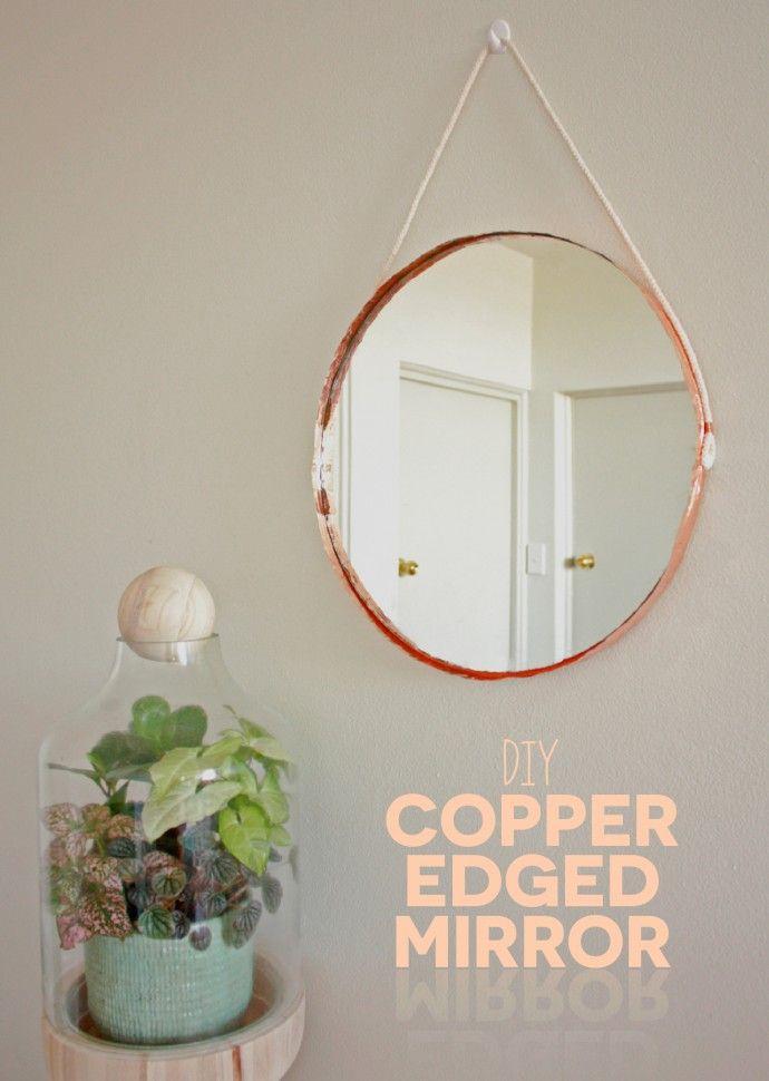 DIY Copper Edged Mirror
