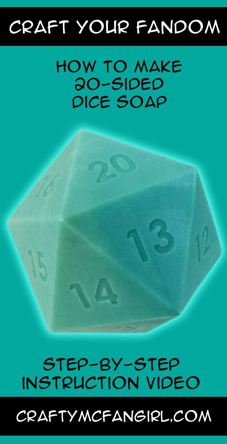 Make d20 RPG Dice Soap for your next game  Handmade soap