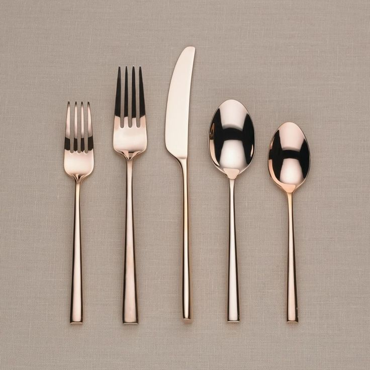 Attractive Kate Spade New York Malmo Rose Gold 5 Piece Flatware Set