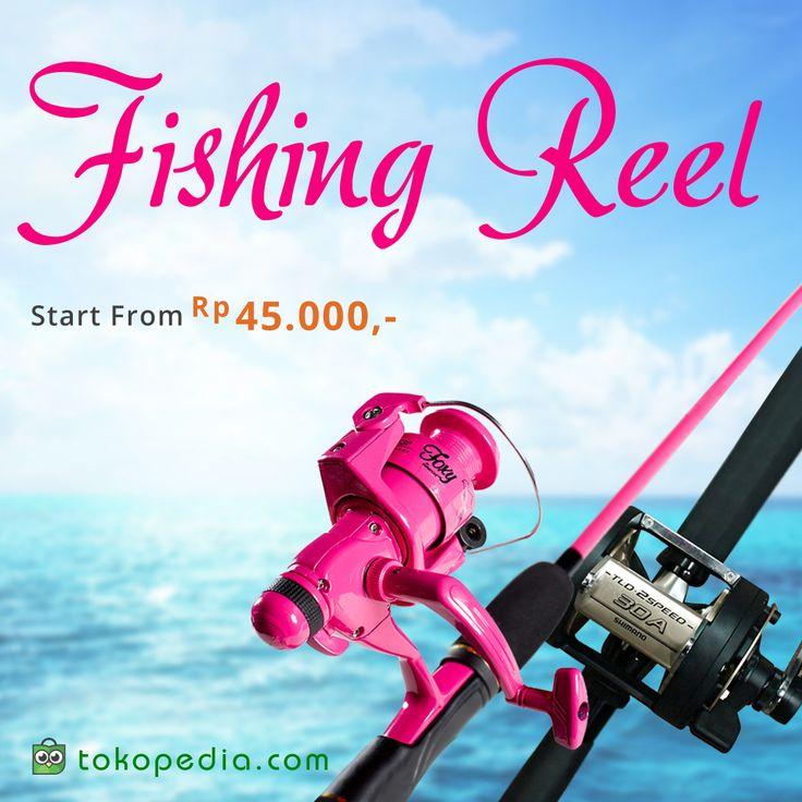 Hobi memancing dan butuh peralatan baru? Yuk beli fishing reel mulai dari Rp 45.000,- di http://www.tokopedia.com/p/olahraga/alat-pancing/fishing-reel?ob=2