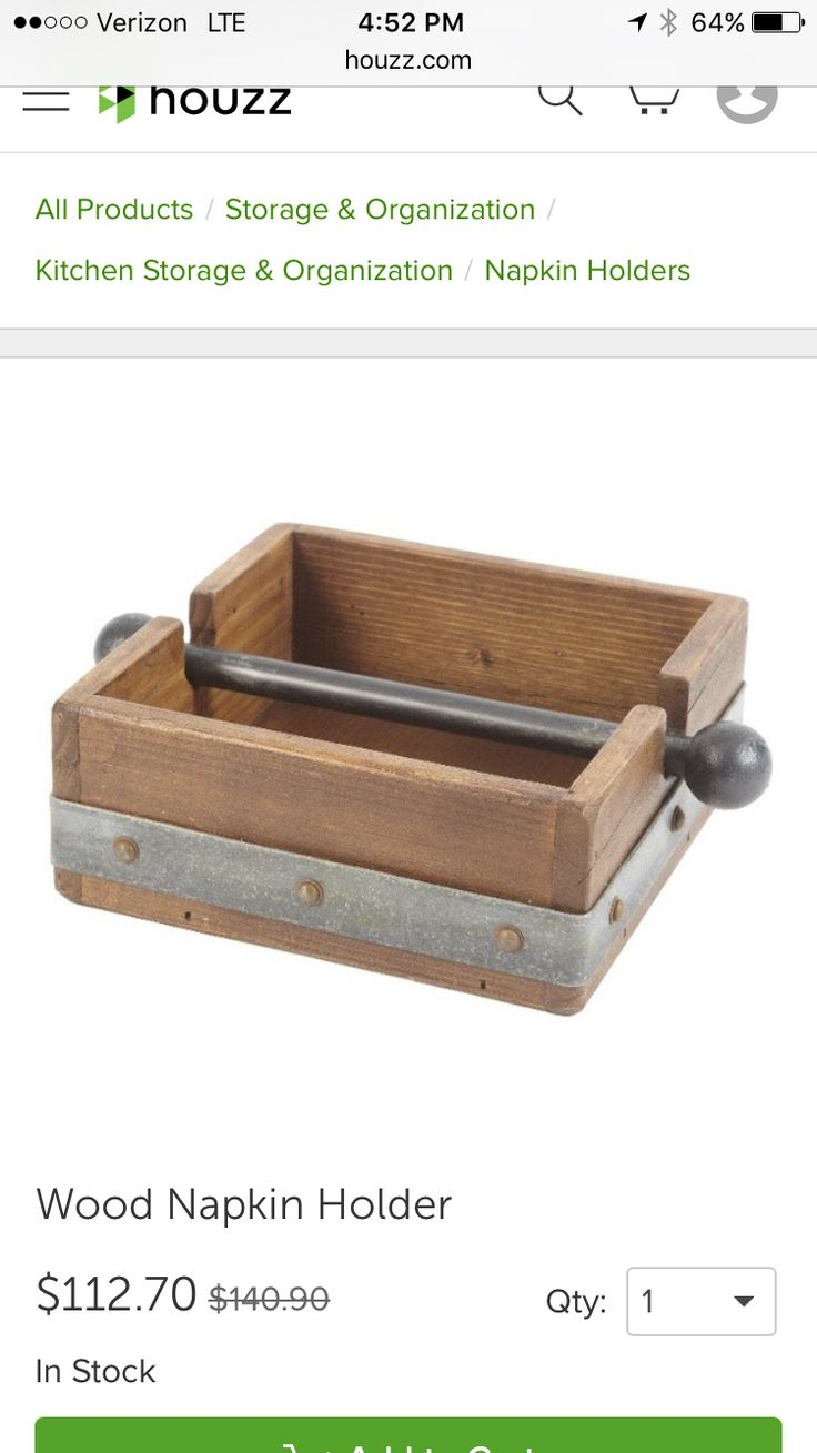 http://www.houzz.com/photos/27760771/Wood-Napkin-Holder-industrial-napkin-holders