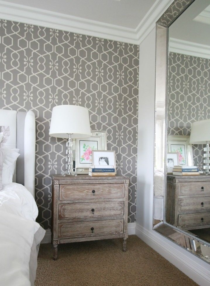 Loving the luxe dimension our Omni Leaner Mirror lends to blogger A Thoughtful Place's bedroom.