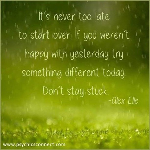 """""""It's never too late to start over. If you weren't happy with yesterday try something different today. Don't stay stuck. -Alex Elle""""  If you want to know more about us, you can go to: www.psychicsconnect.com  #psychicsconnect #psychics #psychicsofinstagram #tarotreadings #tarotreadingsonline #crystalreading #love #mediums #mediumship #spiritguides #clairvoyant #clairvoyantsight #followme #crystalball #horoscope #horoscopes #dailyhoroscope #christmas #dreamreading #dreaminterpretation…"""