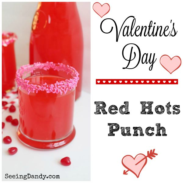 Here's a Red Hots Valentine's Day punch recipe that sure is dandy. Made with Red Hots candy!