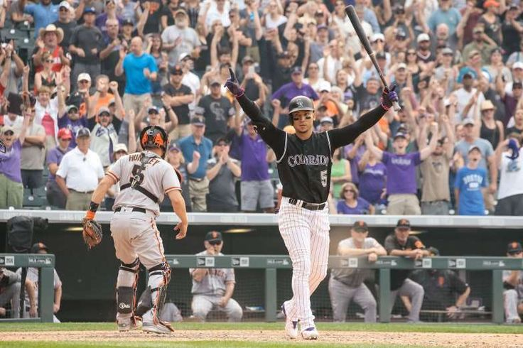 Sept. 4: Rockies' Carlos Gonzalez draws a bases loaded walk-off walk to beat the Giants.