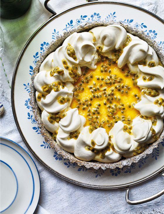 Poppy seed, passion fruit and lemon tart - Sainsbury's Magazine