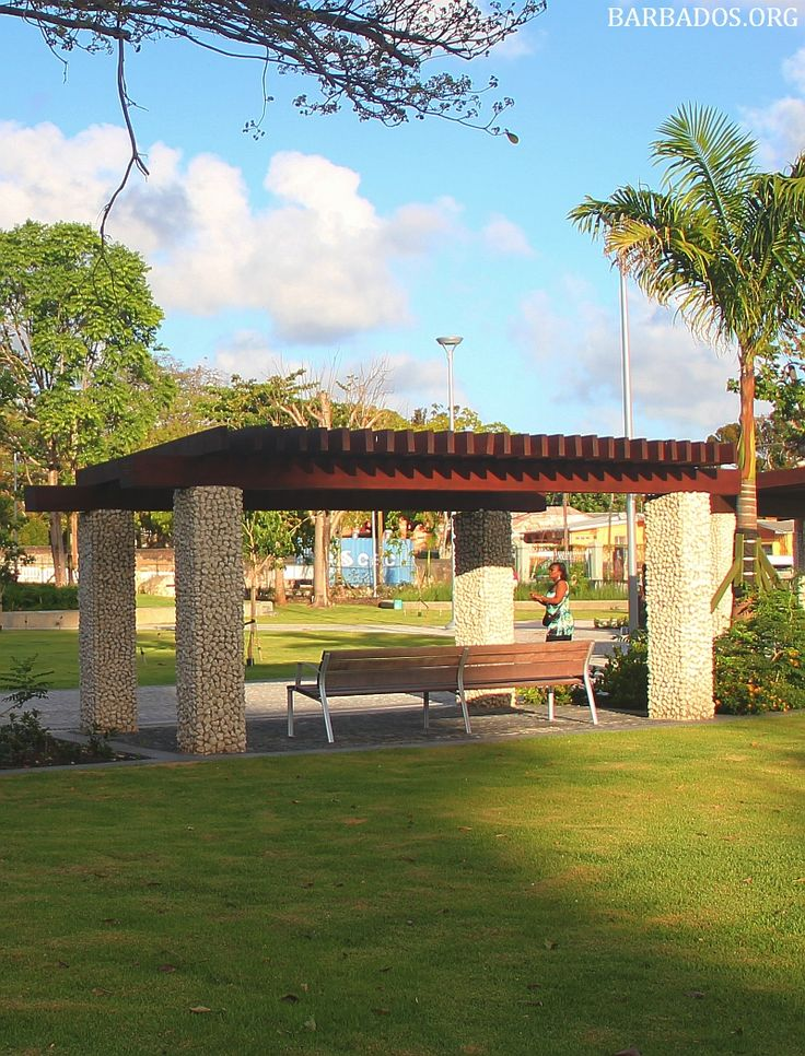 Church Village Green, a small park in the midst of the capital city Bridgetown, #Barbados