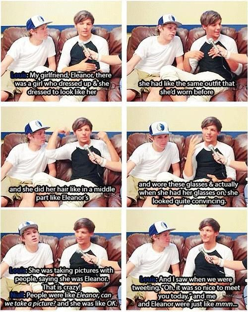 Louis and Niall talking about a person who dressed up as Eleanor