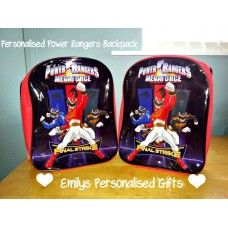 Lovely and Personalised Power Rangers backpack £9.00 plus p+p (Personalised with fabric paint and covered in a fixing solution)