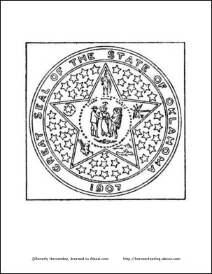 coloring pages oklahoma state flag - photo#37