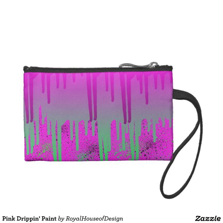 Pink Drippin' Paint Change Purse