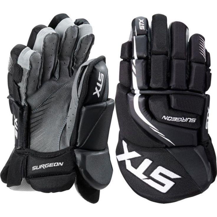 STX Surgeon 300 Senior Hockey Gloves, Black