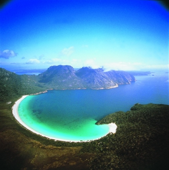 Wine Glass Bay in Freycinet National Park, #Tasmania - I look forward to seeing this one day...