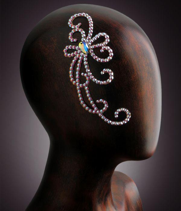 Verona Rhinestone Hairpiece CX120 Crystal AB | Dancesport Fashion @ DanceShopper.com