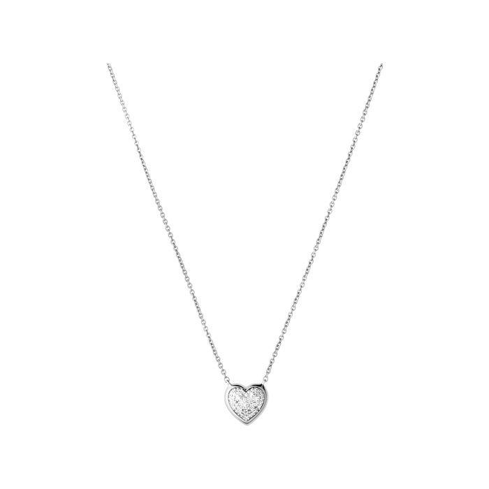 Diamond Essentials Sterling Silver & Pave Heart Necklace | Women Necklaces | Links of London