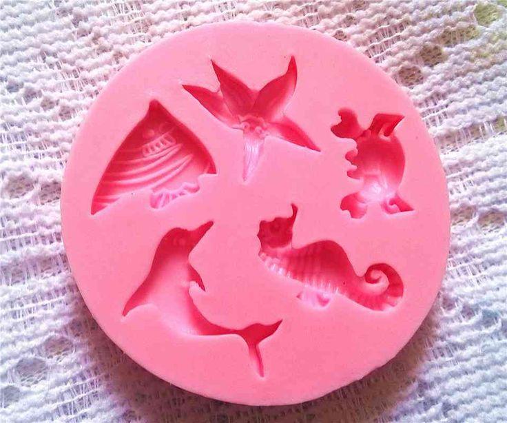 Mar molde de Silicone bolo decoração ferramenta de molde Fondant marinho novas…