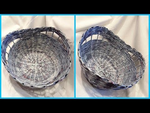 Плетение корзины с декоративными просветами без формы: подробный МК! - YouTube