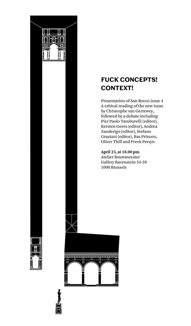 F*ck Concepts! CONTEXT! - San Rocco Magazine Issue No. 4