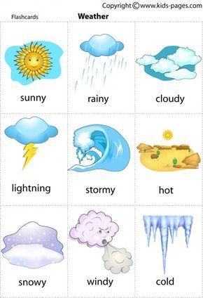 Free printable weather flashcards