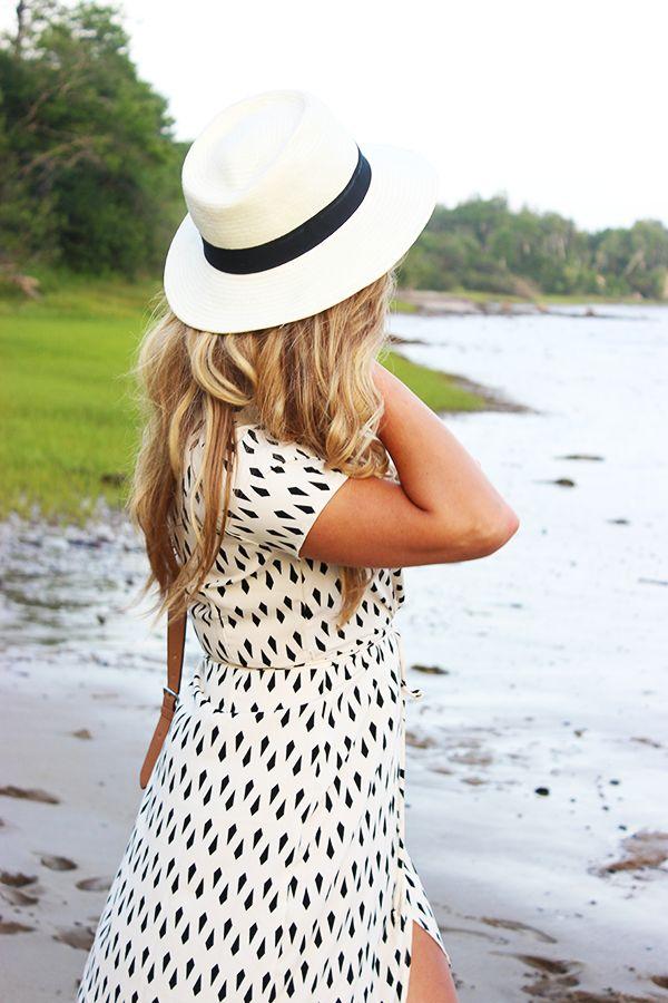 Panama Hat + Wrap Dress