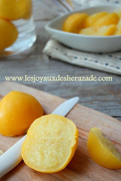 citron confit, recette