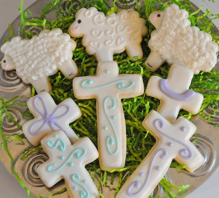 Easter Cookies - Sugar cookies with royal icing