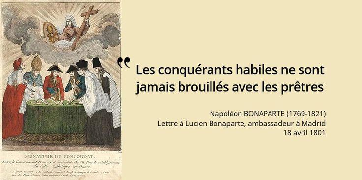 Dans cet esprit, que signe #Napoleon avec Pie VII le 15 juillet 1801 ? #histoire de #France en #citations