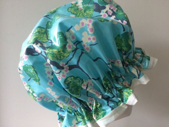 Shower Cap. Handmade PVC / BPA Free Laminated Cotton. Designer Fabric. Gift For Her. Eco-Friendly